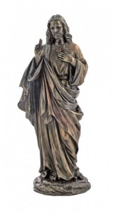 Sacred Heart of Jesus Bronzed Resin Statue - 12 Inches [GSCH1121]