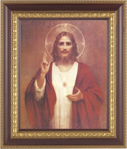Sacred Heart of Jesus Framed Print [HFP109]