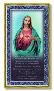 Sacred Heart of Jesus Italian Prayer Plaque [HPP001]