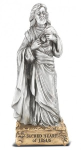 Sacred Heart of Jesus Pewter Statue 4 Inch [HRST101]