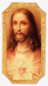 "Sacred Heart of Jesus Plaque 9"" [FA0145]"