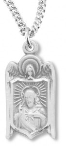 Sacred Heart of Jesus and Angel's Wings Pendant [HM0789]