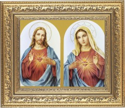 Sacred Heart of Jesus and Immaculate Heart of Mary Framed Print [HFP191]