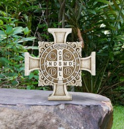 "Saint Benedict Stepping Stone Cross 11"" High [CBSD001]"