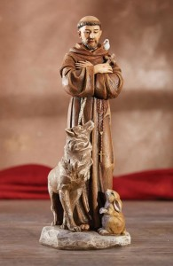 Saint Francis with Animals 8 Inch High Statue [CBST019]