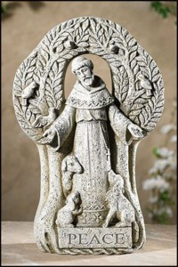 "Saint Francis Peace Tree Garden Statue 12.5"" High [CBSD015]"