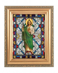 Saint Jude Gold Frame Stained Glass Effect [HFA4609]