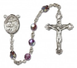 Saints Cosmas and Damian Sterling Silver Heirloom Rosary Squared Crucifix [RBEN1427]