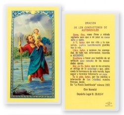 San Cristobal De Conductores Laminated Spanish Prayer Cards 25 Pack [HPRS620]