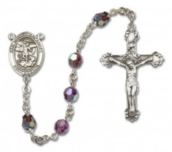 San Miguel the Archangel Sterling Silver Heirloom Rosary Fancy Crucifix [RBEN1303]