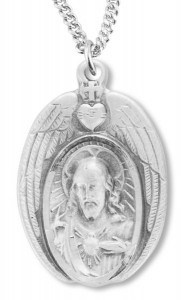 Scapular Medal with Angels Wings Necklace [REM2121]