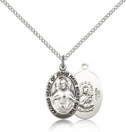 Women's Have Mercy on Us Scapular Medal Necklace [BM0603]