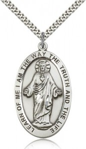Large Learn of Me I Am The Way Jesus Necklace [BM0613]