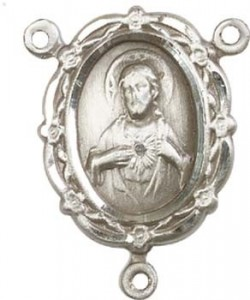 Scapular Sterling Silver Rosary Centerpiece [BLCR0155]