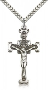 Scrolled Cross Crucifix Pendant [CM2206]
