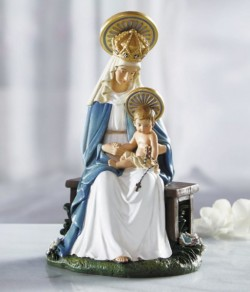 Seated Madonna 6 Inches High Statue [CBST004]