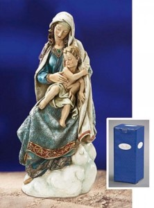 Seated Madonna and Child 28.5 Inch High Statue [CBST043]