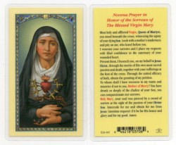 Seven Sorrows of Mary Laminated Prayer Cards 25 Pack [HPR947]