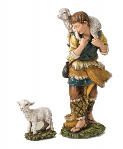 "Shepherd and Lamb Nativity Figures 23.75""H for 27"" Scale Nativity Set [RM9016]"