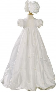 Silk Dupioni Bubble Christening Gown [LTM006]