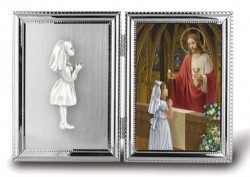 Girls Silver Plated First Communion Photo Frame [HC2232]