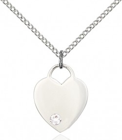 Small Heart Shaped Pendant with Birthstone Options [BLST3400]