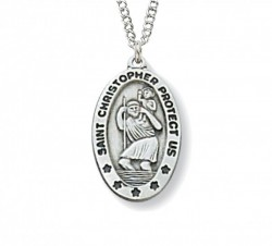 Women's Small Oval St. Christopher Medal [CM0600]