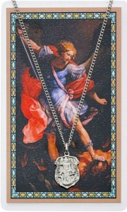 Small St. Michael Prayer Shield Prayer Card [PCMV003]