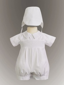 Smocked Cotton Romper [LB0043]