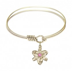 Smooth Bangle Bracelet with a Chastity Charm [BRST031]