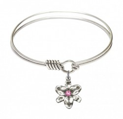 Smooth Bangle Bracelet with a Chastity Charm [BRST032]