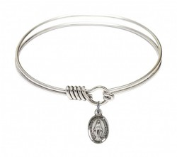 Smooth Bangle Bracelet with a Miraculous Charm [BRS0702M]