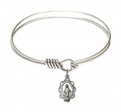 Smooth Bangle Bracelet with a Miraculous Charm [BRS1610]