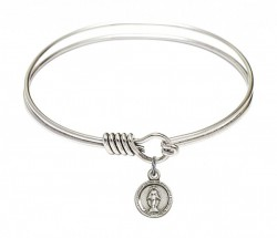Smooth Bangle Bracelet with a Miraculous Charm [BRS2342]