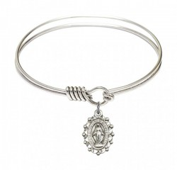Smooth Bangle Bracelet with a Miraculous Charm [BRS6040]