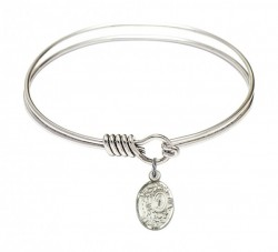 Smooth Bangle Bracelet with a Miraculous Charm [BRS9682]