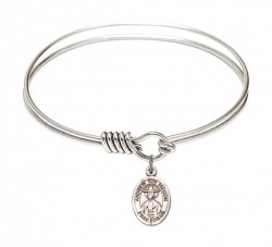 Smooth Bangle Bracelet with a Saint Andrew Kim Taegon Charm [BRS9373]
