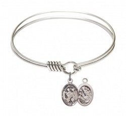 Smooth Bangle Bracelet with a Saint Cecilia Marching Band Charm [BRS9179]