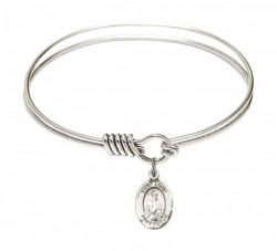 Smooth Bangle Bracelet with a Saint Louis Charm [BRS9081]