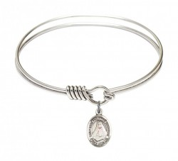 Smooth Bangle Bracelet with a Saint Rose Philippine Duchesne Charm [BRS9371]