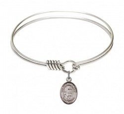 Smooth Bangle Bracelet with a San Juan de la Cruz Charm [BRS9232]