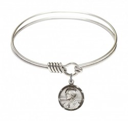 Smooth Bangle Bracelet with a Scapular Charm [BRS0601S]