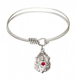 Smooth Bangle Bracelet with a Scapular Charm [BRST050]