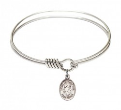 Smooth Bangle Bracelet with a Sts. Peter & Paul Charm [BRS9410]
