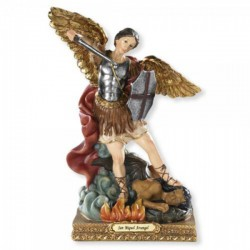 Spanish Saint Michael 8 Inch High Statue [CBST096]