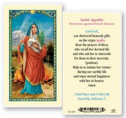 St. Agatha Laminated Prayer Cards 25 Pack [HPR400]