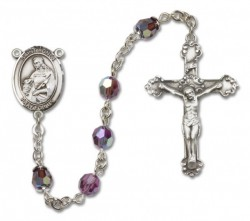 St. Agnes of Rome Sterling Silver Heirloom Rosary Fancy Crucifix [RBEN1064]