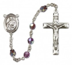 St. Agnes of Rome Sterling Silver Heirloom Rosary Squared Crucifix [RBEN0064]