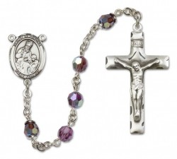 St. Ambrose Sterling Silver Heirloom Rosary Squared Crucifix [RBEN0073]