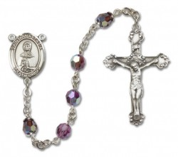 St. Anastasia Sterling Silver Heirloom Rosary Fancy Crucifix [RBEN1075]